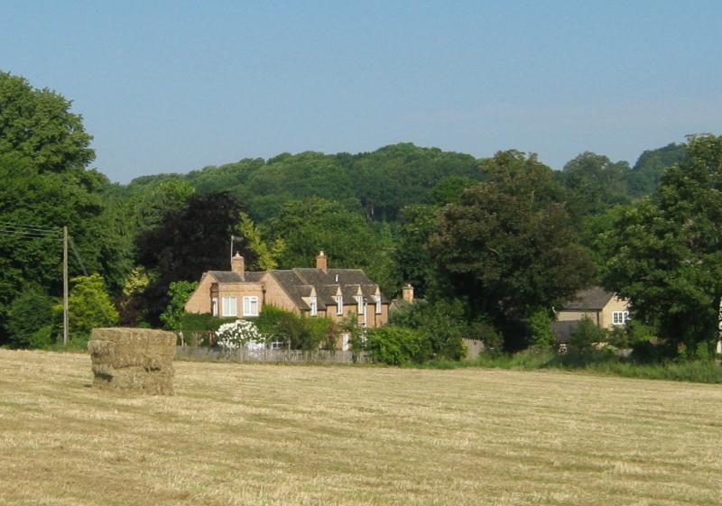 Hay making time, Croftsbrook from the adjacent field