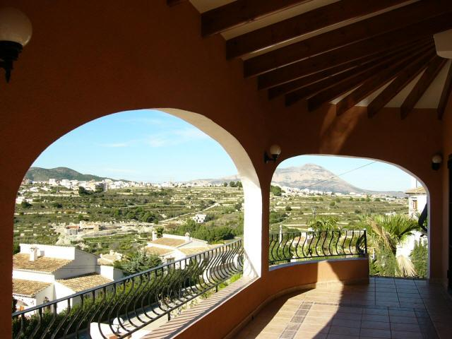 terrace top level with mountain and sea view