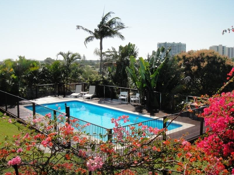 Large, fully fenced pool with incredible views