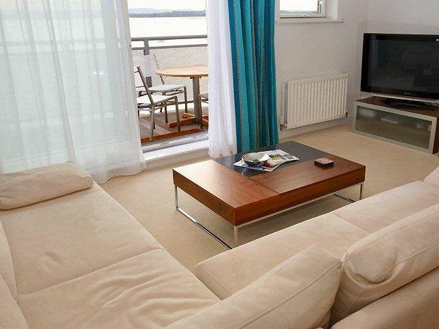 Bright contemporary south-facing lounge - Unrivalled panoramic views of Poole Harbour