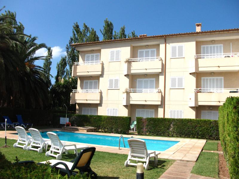 our apartment - ground floor - & pool. A small complex of 8 private aprtments