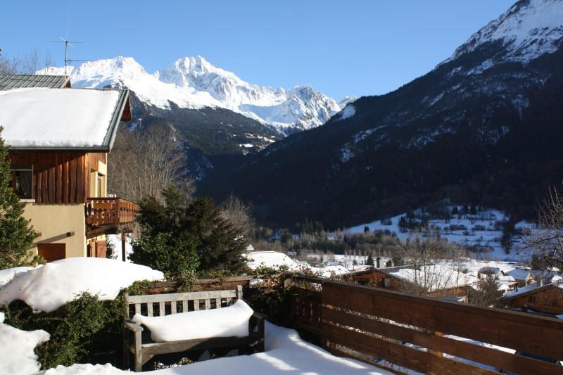 View  from terrace of Chalet Grand Bec
