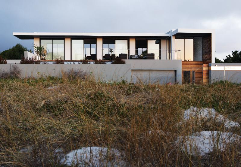 Front aspect overlooking the beach