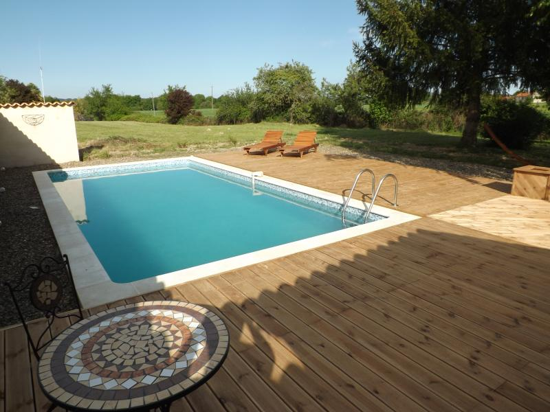 Large new decks around the pool - new in 2013