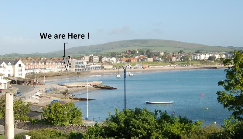 Beachside location with great views over the beautiful bay....