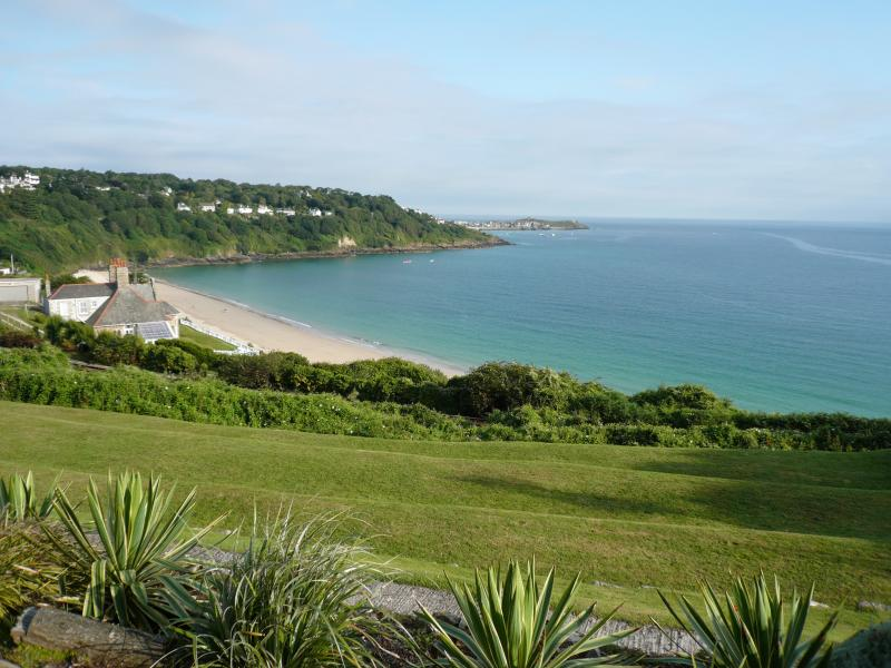 Prime front line elevated location with amazing views of Carbis Bay Beach & St Ives Harbour
