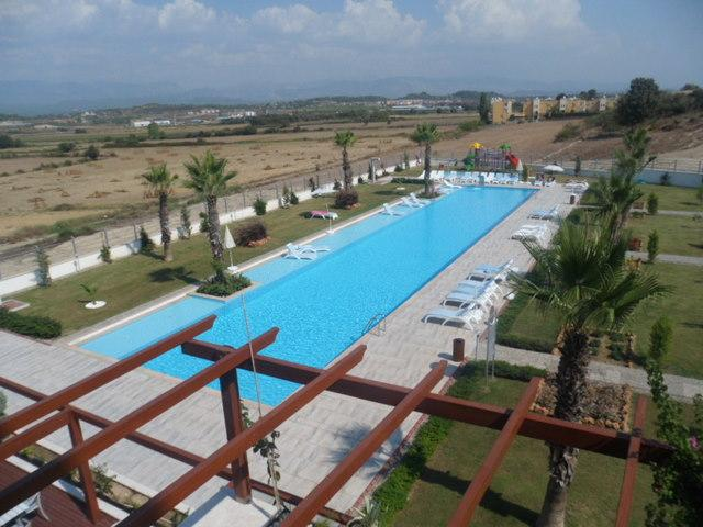 View from the balcony to the main pool and pool side bar cum restaurant