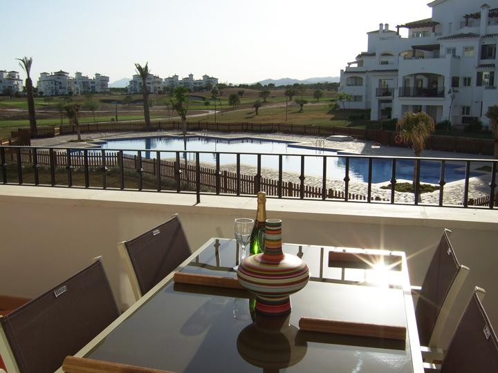 Dine with stunning views of the pool, golf course & surrounding mountains from our spacious terr