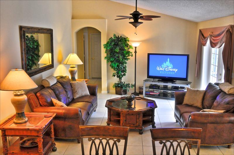 The Family Room With 55' HDTV DVR and PS4