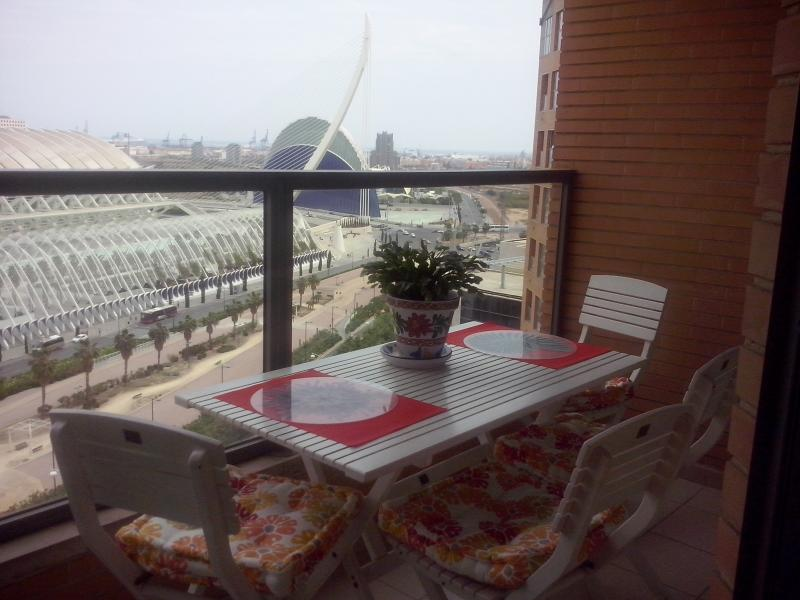terrace and the views
