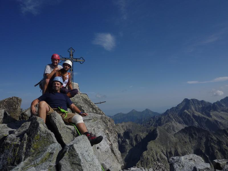 Gerlachovsky Stit 2654m - directly above the apartment. No climbing skills required!