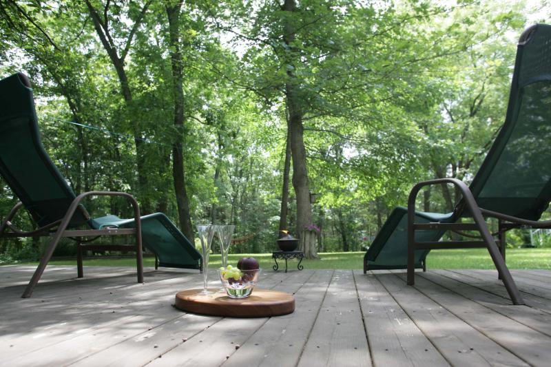 Looking for a peaceful summer retreat for two of you nested among the trees?