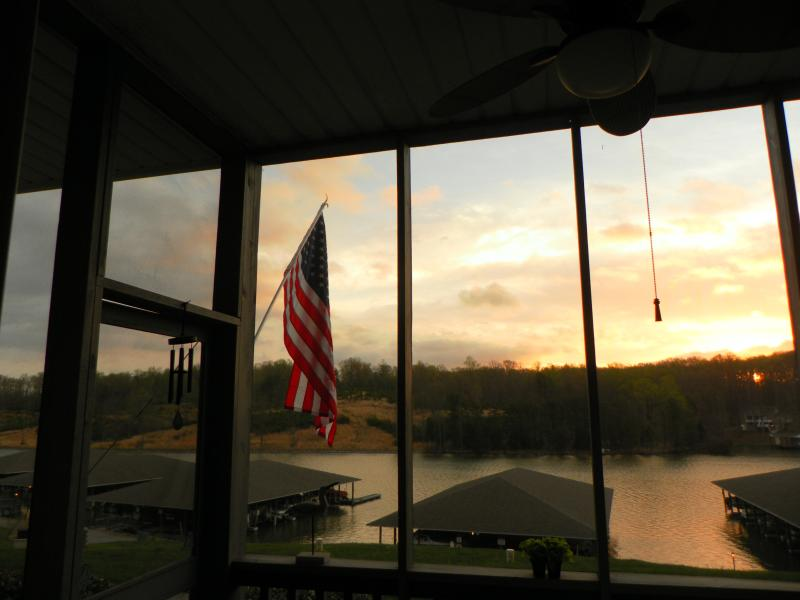 View from our screened porch