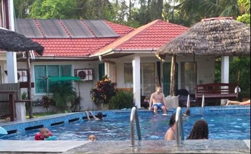Swimming pool and bungalow