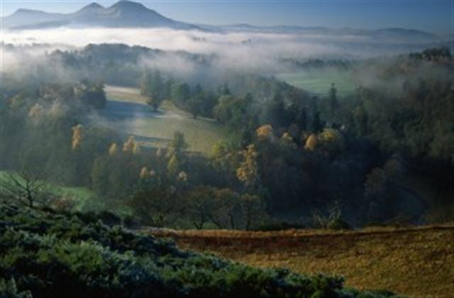 Walter Scott's favourite view of the Eildon Hills by Keith Robeson