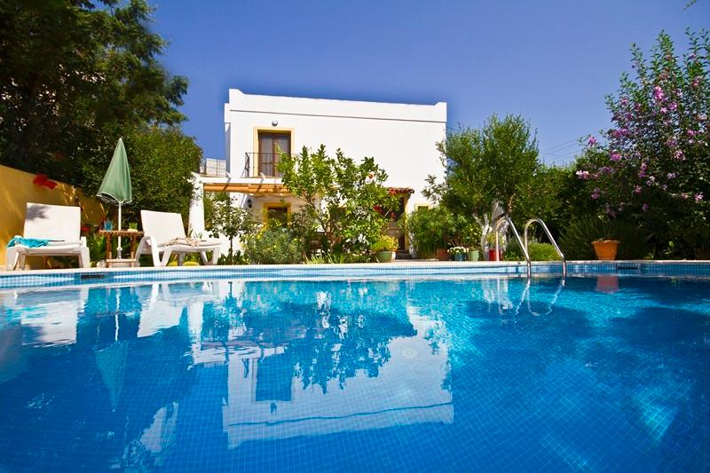 Large private pool in large walled private gardens