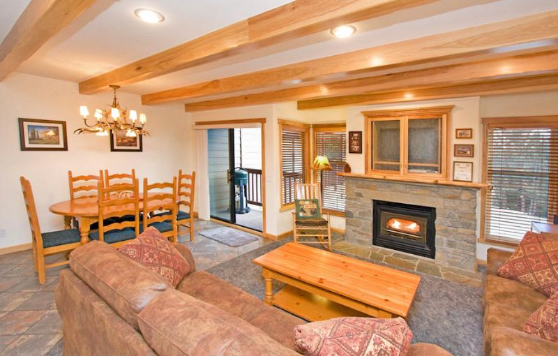 Val D'Isere #42 Living Area with A Gas Fireplace and A Queen Sofa Bed