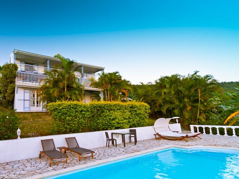 Villa Mascarine from the pool side