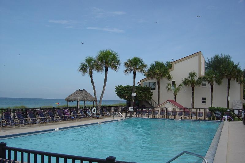 Large Heated Pool, Deck and Chairs for Enjoying Gulf View