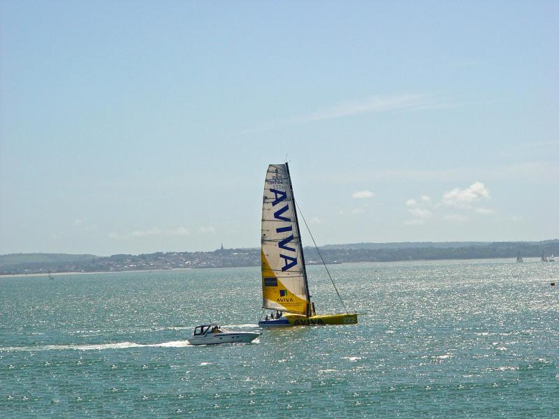Frontline views of the Solent and beyond to the Isle Of Wight