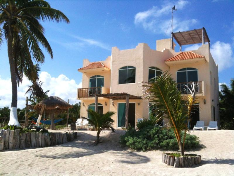 Beach side of your Puerto Angel dream home with Caribbean Views from every room