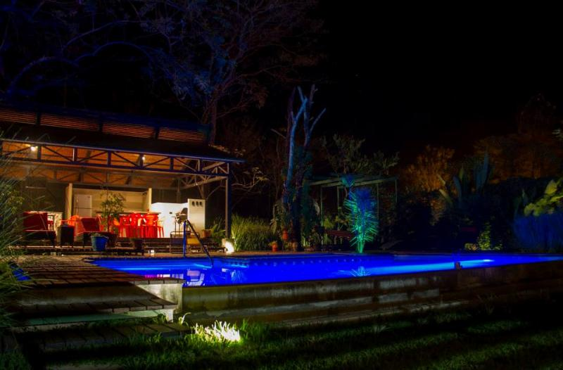 Ranch and Pool by night
