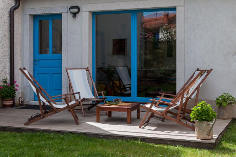 relax in the sunny terrace