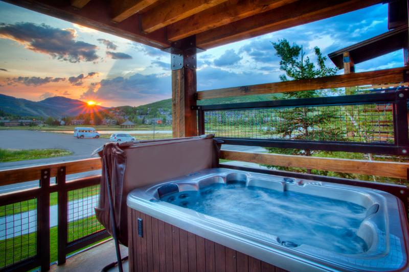 Relax in the hot tub after a day on the mountain