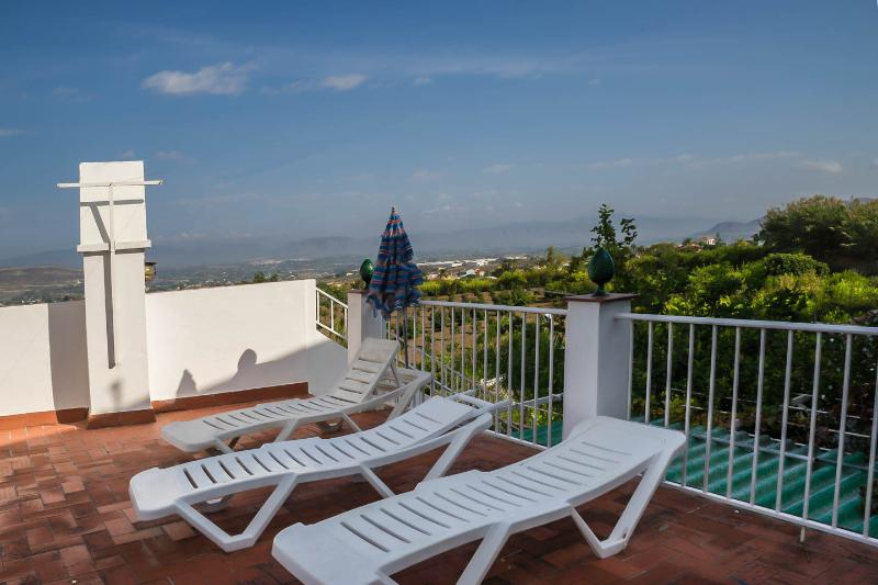 Our upper terrace with views over the orange grove