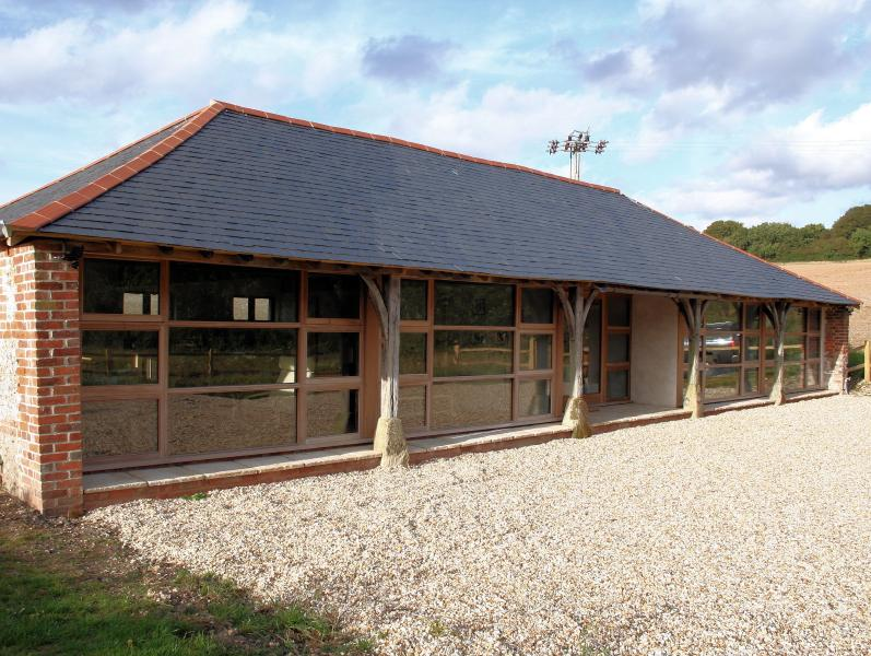 Dines Barn's fully glazed front