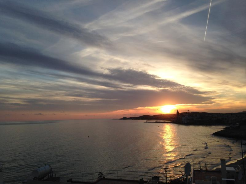 stunning sunsets from the terrace