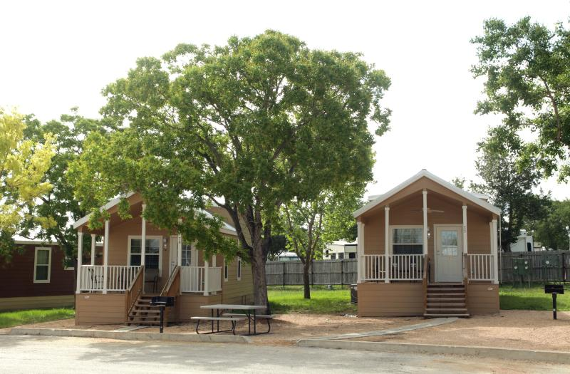 We have over 30 Guadalupe Cottages, with one bedroom, a loft, one bathroom, and full kitchen