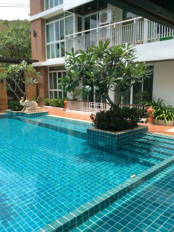 View of apartment from pool