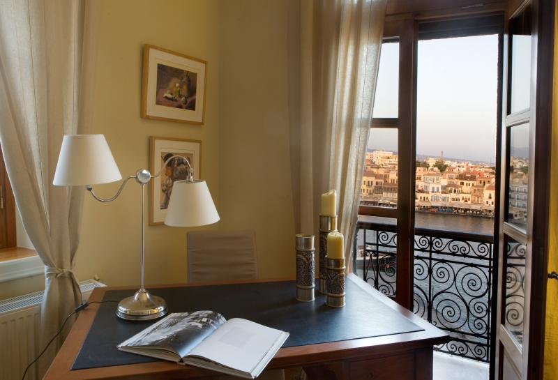 View of the Venetian harbour from one of the bedrooms