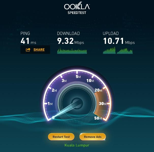 Newly upgraded UNIFI fiber optic high-speed internet connection. Fast & unlimited surfing!