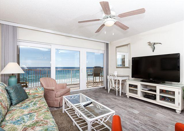 Outstanding views from the 6th floor beach front condo! New floo