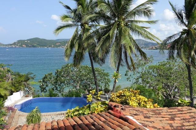 Our view of Zihuatanejo  Bay