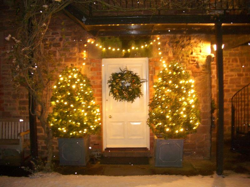 A warm welcome awaits you. Cottages are decorated for Christmas and New Year with real trees
