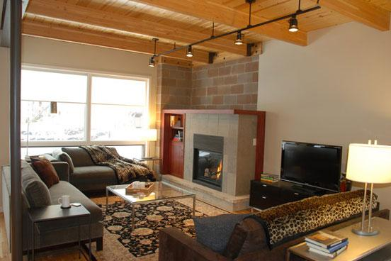 Blackhawk townhome living room