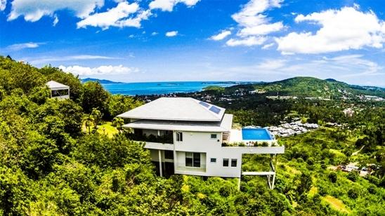 Panoramic sea-views overlooking Bophut & Chaweng areas