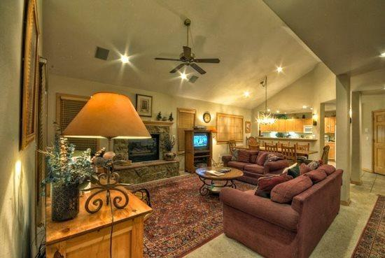 Large Living Area With Vaulted Ceilings, Gas Fireplace