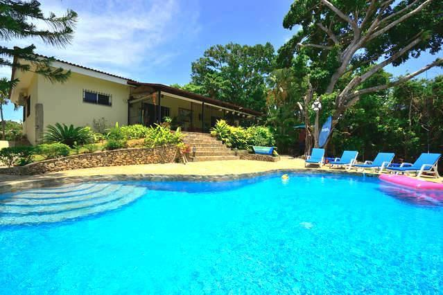 Back of Spacious 3 Bedroom Villa, Covered Terrace and Swimming Pool