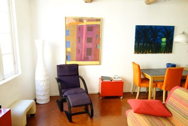 Bright spacious lounge, with artwork by my brother, Gregory Alexander.
