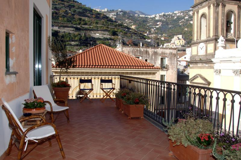 The apartment terrace - Overlooking Ravello and the Minori Basilica