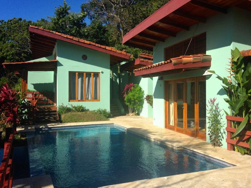 Pool, Master Suite and Bunkhouse View, 3 buildings for total privacy