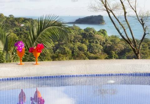 View of Manuel Antonio National Park and ocean from swimming pool