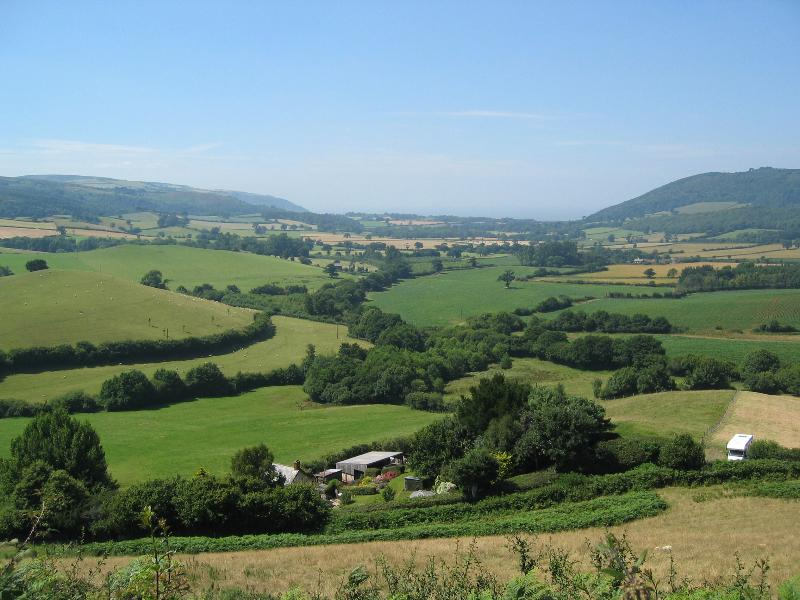 View overlooking valley nearby cottage