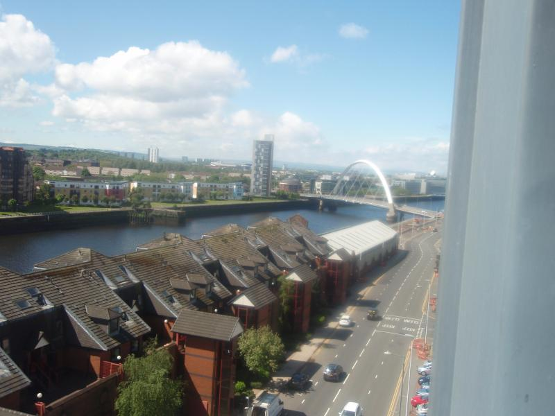 View from living room and squinty bridge