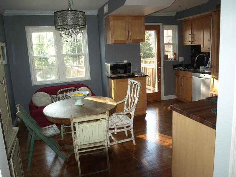 Bright and cheery eclectic kitchen