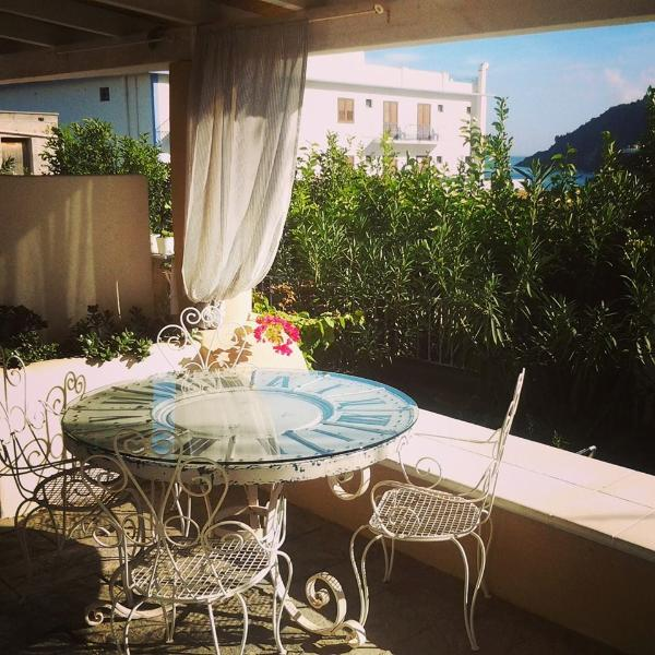 Terrace of two room apartment at Villa Sea Rose Lipari